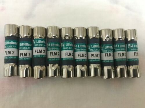 Package of 10 Littelfuse FLM 2 2 Amp TIME-DELAY  250 VAC OR LESS SFO SHIPPING