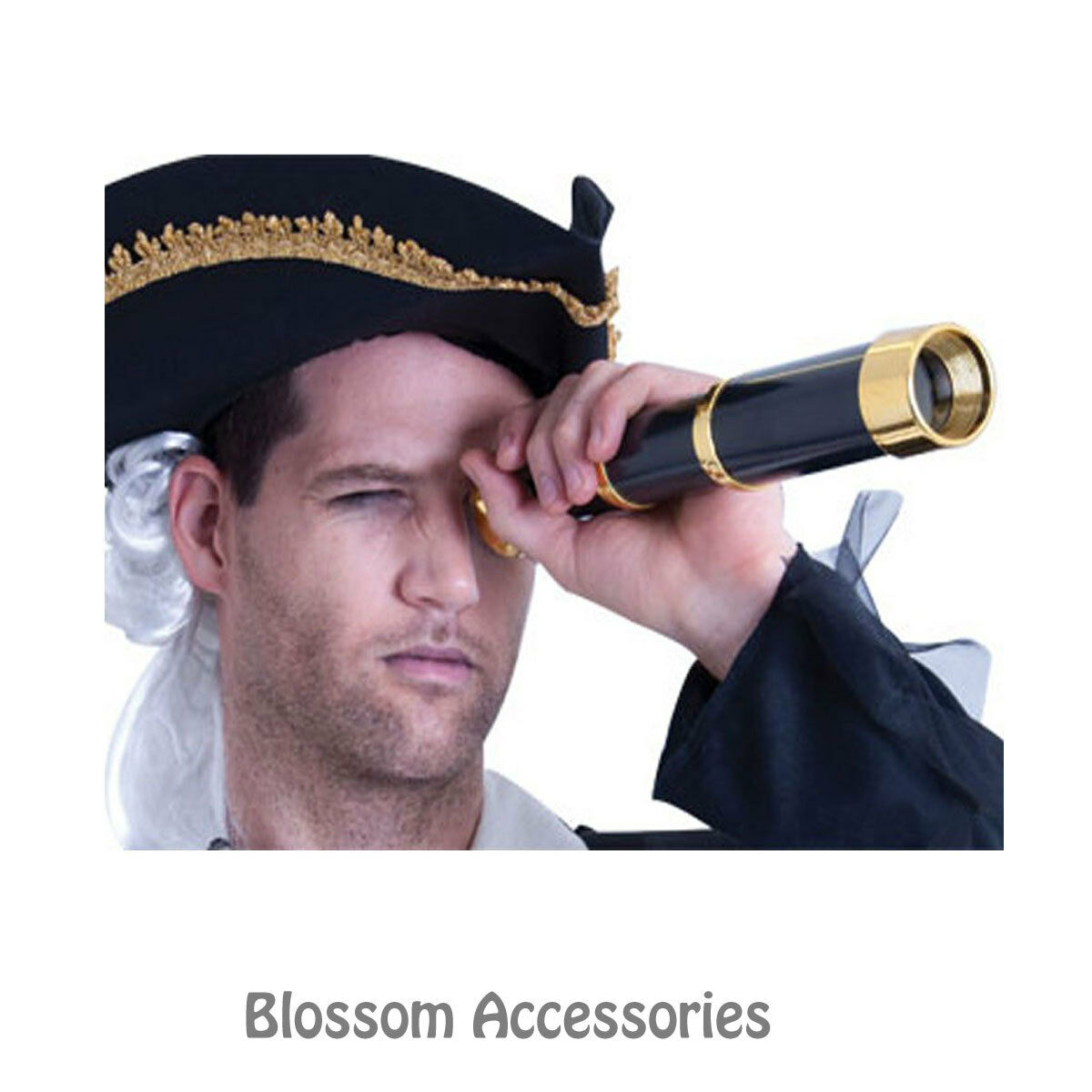 AS119 Deluxe Telescopes Pirate Captain Fancy Dress Party Costume Accessory