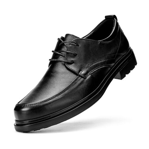 Details about  /Mens Work Oxfords Office Party Black Business Leisure Faux Leather Shoes 38-48 L