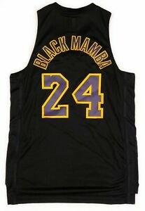 Details about Adidas BLACK MAMBA Kobe Bryant #24 Black Swingman Jersey