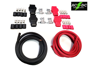 4 AWG with Quick connect disconnect Anderson SB175 Battery Cable Terminal Lug. 10 FT, 5//16 lug
