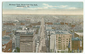 North-from-City-Hall-Philadelphia-Birdseye-View-Vintage-1916-Postcard