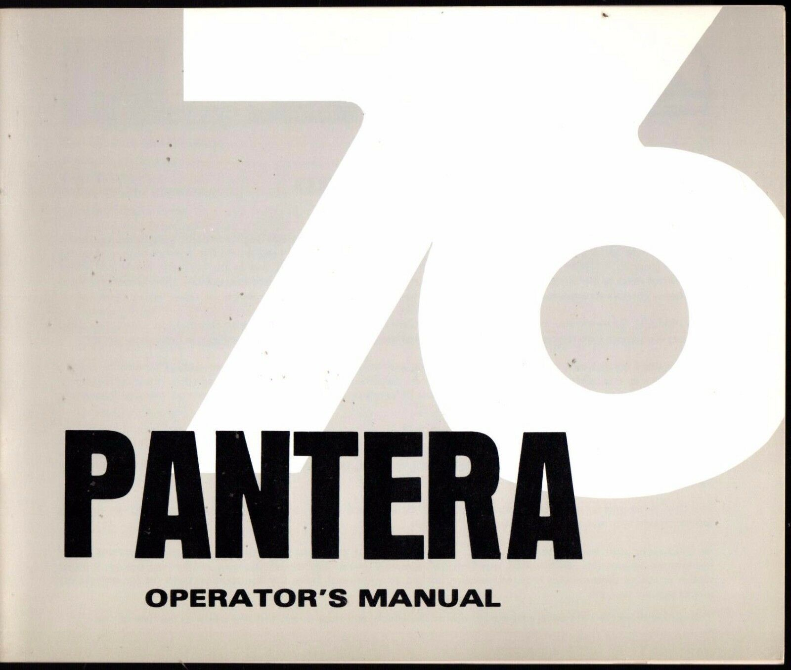 1976 ARCTIC CAT PANTERA SNOWMOBILE OPERATOR MANUAL MINT P N 2254-053  (337)