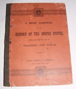 RARE-1886-A-Brief-Compend-of-The-History-of-The-United-States