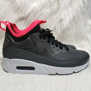 Details about Nike Air Max 90 Ultra Black Solar Red Grey Mens Sz 7 Womens Sz 8.5 924458 003