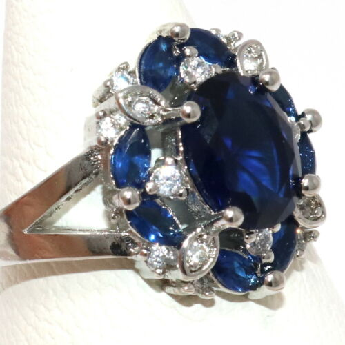 Details about  /Antique 1CT Oval Blue Sapphire Ring Women Nickel Free Jewelry Gift Size 6 to 9
