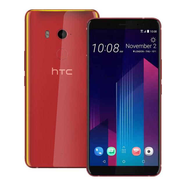 """NEW HTC U11 Plus (2Q4D100) 6.0"""" 6GB / 128GB 12MP LTE UNLOCKED SOLAR RED"""