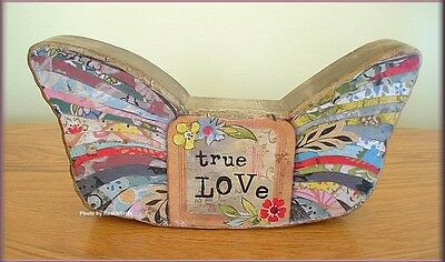 "TRUE LOVE WINGS SCULPTURE BY KELLY RAE ROBERTS 4"" X 9.5""  FREE U. S. SHIPPING"