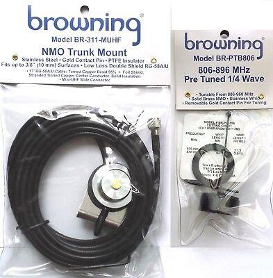 VHF NMO Antenna 1//4 Wave /& Trunk Mount mini-UHF for Mobile Base Radios Motorola