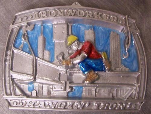 Pewter Belt Buckle tradesman Ironworker NEW