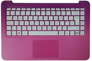 Details about New HP Stream 13-C Pink Palmrest Touchpad Cover UK QWERTY  Keyboard 836873-031