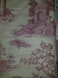 Red On Beige Toile Lined Drapes Curtains 2 Panels 52 Quot X 76