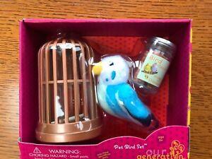 "New Our Generation Battat AG Pet Bird Set~18"" Doll Accessories"
