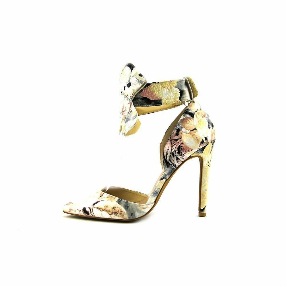 Betsey Johnson Malissa Floral M Multi Pattern Dress Pointed Stilettos Pump 6 M Floral New 94958e