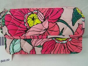 Vera-Bradley-All-In-One-Crossbody-For-Iphone-6-Vintage-Floral-NWT-Pink-Quilted