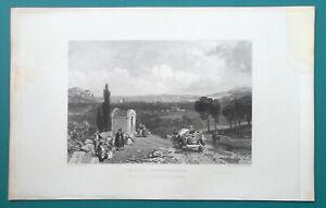 ITALY-Spezia-Gulf-of-Genoa-1833-Antique-Print-Engraving