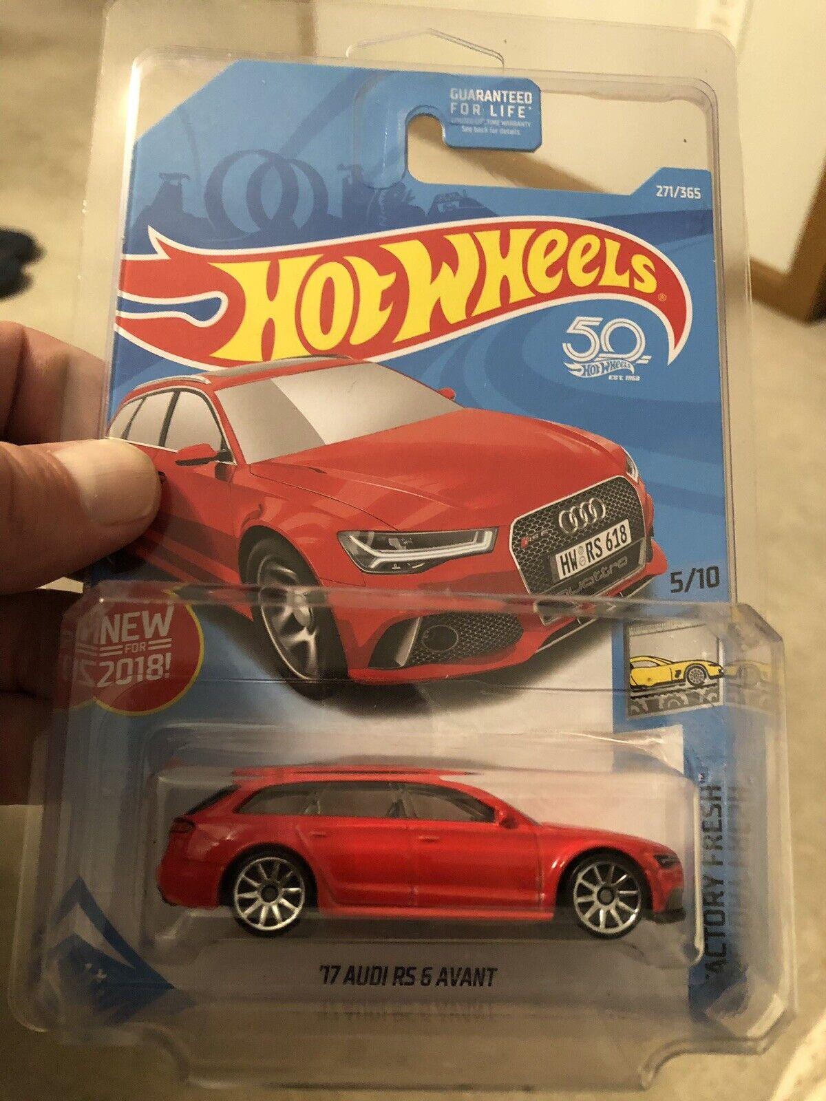 Hot Wheels 2017 Audi RS 6 Avant. Rare 10 Spoke Wheel Variation  RARE   RARE