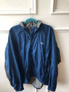 Men-039-s-THE-NORTH-FACE-Windbreaker-Jacket-Full-Zip-Blue-and-Black-Size-XL