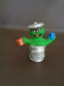 Details About Oscar The Grouch Muppets Plastic Figure Tara Toy Cat 13a092