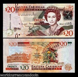 EAST CARIBBEAN 10 DOLLARS 2016 P NEW SECURITY THREAD CRICKET MARK UNC