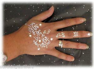 ADDTTOO-Temporary-Tattoo-Gold-Silver-Black-with-Swarovski-Crystals-Body-Art