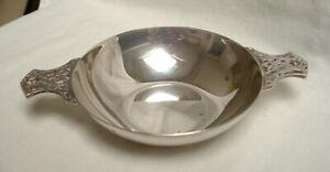 Quality Vintage Scottish Celtic Design Silver Quaich Toasting Cup London 1956