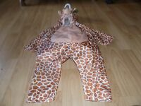 Toddler Size 2-4 Chrisha Playful Plush Giraffe Halloween Costume Jumpsuit