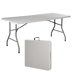 6 39 folding table portable plastic indoor outdoor picnic party dining camp tables ebay. Black Bedroom Furniture Sets. Home Design Ideas