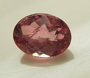 .95 CT CHECKERBOARD TOP CUT OVAL LOOSE FACETED NATURAL PINK TOURMALINE (RT5-26)