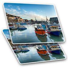 Barcelona Spain Port Boats  #44220 2 x Vinyl Stickers 15cm