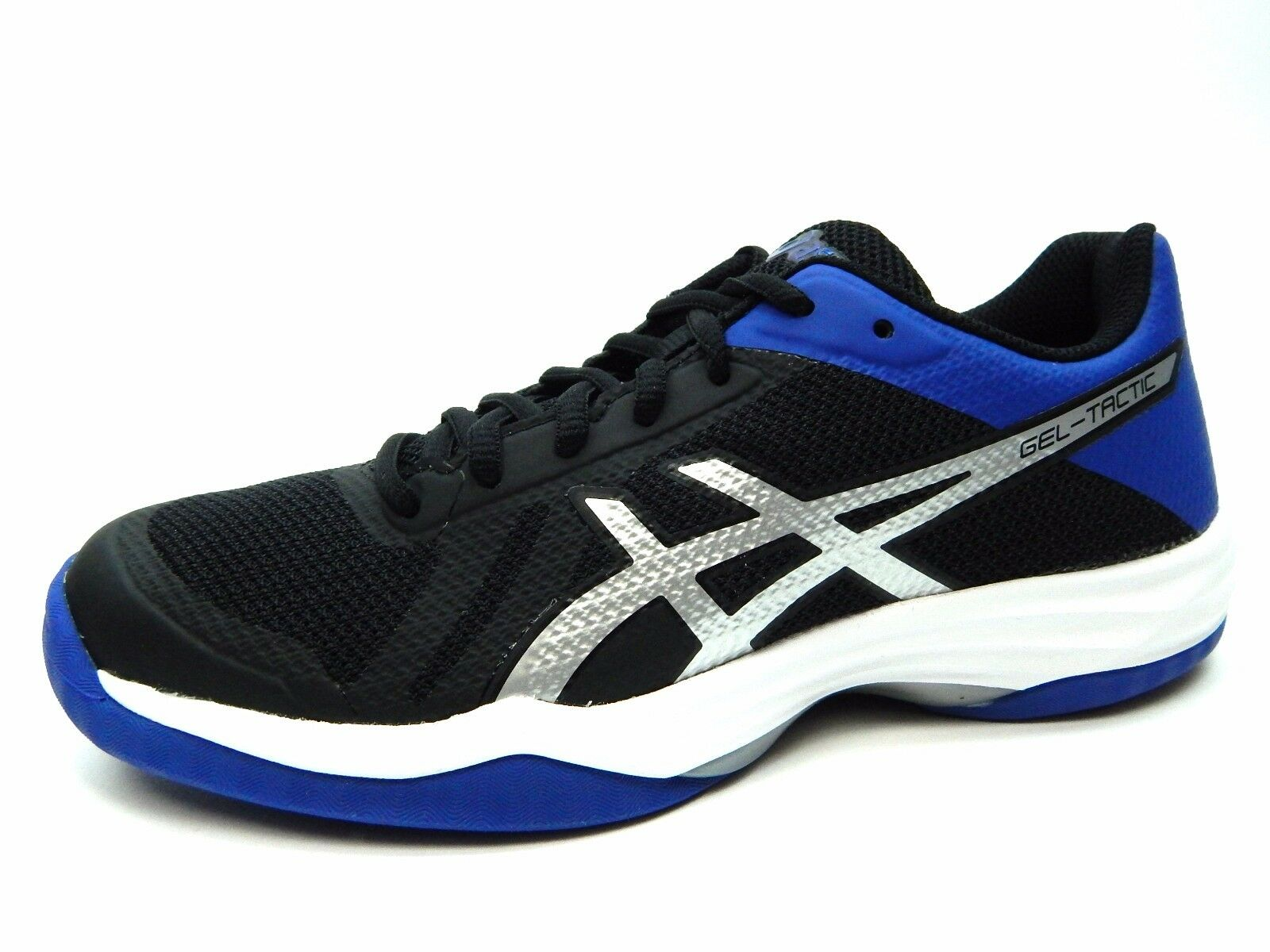 ASICS GEL TACTIC BLACK blueE SILVER B752N 9045 WOMEN SHOES