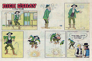 Rick-O-039-Shay-by-Stan-Lynde-half-tab-color-Sunday-comic-page-April-26-1964