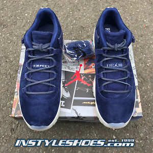 92b930895878 Nike Air Jordan 11 XI Low Retro Jeter Re2pect Concord AV2187-441