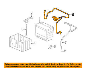 Image Is Loading Honda Oem 05 06 Odyssey Battery Cable 32410shja20