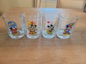Walt Disney World Celebration 2000 Mickey Mouse McDonalds Glasses - Set Of 4
