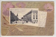 AK Wels, Stadtplatz mit Rathaus, Präge-AK, 1903