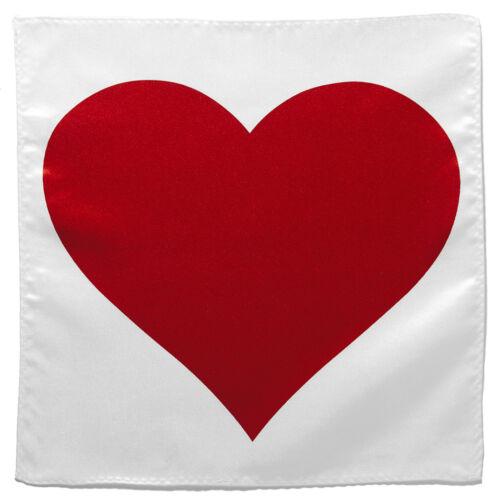 Red Heart Shape Handkerchief Pocket Square Hanky Men/'s Handkerchiefs