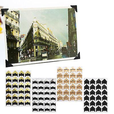 24PCS Retro Self-adhesive Card Photo Frame Corner Stickers Craft Scrapbook Album