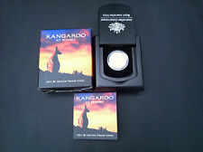 2011 $1 KANGAROO AT SUNSET SILVER PROOF COIN CERTIFICATE NUMBERED: 4542
