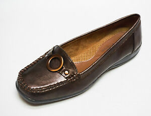 Natural-Soul-by-Naturalizer-CADBY-Brown-Comfort-Slip-on-Loafers-shoes-6-NEW