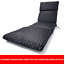 thumbnail 2 - Grey Sunlounger Cushion Outdoor Seat Cover Lounge Patio Chair UV Water Resistant
