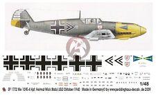 Peddinghaus 1/48 Bf 109 E-4 Markings Helmut Wick Stab./JG 2 France 1940 1772