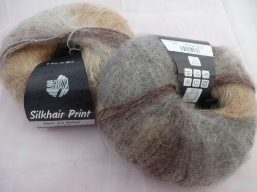 Hell 34 €// 100g Lana Grossa Silk Hair Print 50g Mohair Colour 342 Nature//Camel