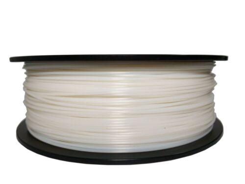 Pearl White 3D Printer Filament 1kg/2.2lb 1.75mm ABS MakerBot RepRap