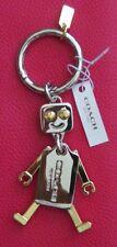 Coach Robot Gold Silver tone Key CHAIN RING Key FOB F65429