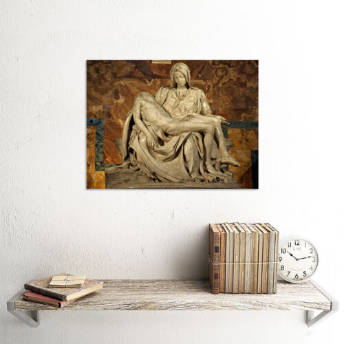 MICHELANGELO PIETA 1499 OLD MASTER ART PAINTING PRINT POSTER REPRODUCTION 1987OM