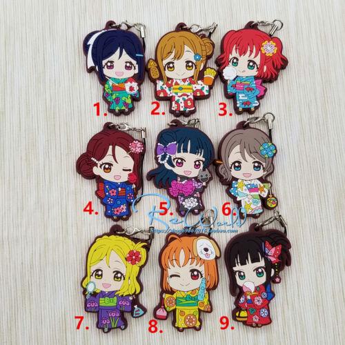 Sunshine Aqours Keychain Anime Rubber Strap Charm Kimono New Love Live Lovelive