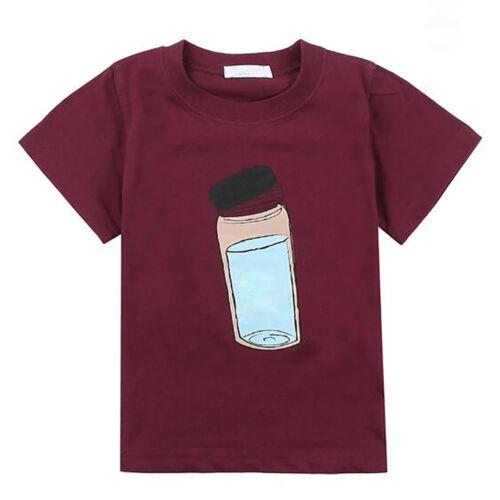 Popular Children Toddler Boy Kids Cartoon Pattern Short Sleeve Tops T-Shirt Tees
