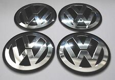 VW WHEEL HUB CAPS BADGE EMBLEMA ADESIVI IN METALLO 60mm Set di 4 di alta qualità Golf