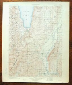 Details about 1912 Randolph Utah Idaho Antique USGS Topo Map Bear Lake  Laketown Topographic
